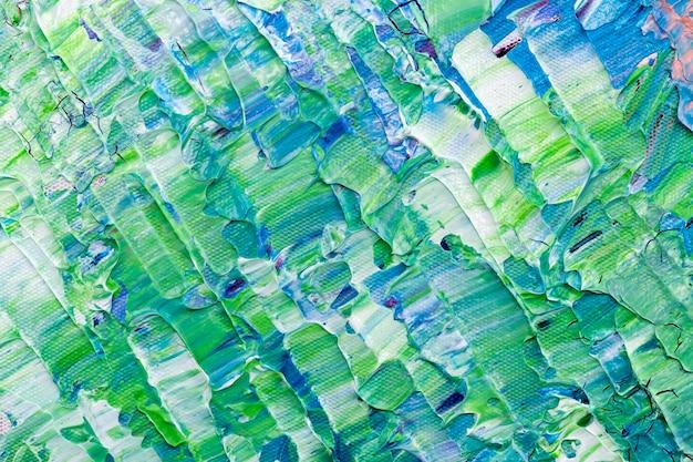 Strukturierter hintergrund der acrylfarbe in der kreativen kunst des grünen ästhetischen stils