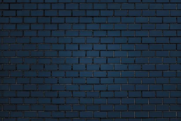 Strukturierter hintergrund der blauen backsteinmauer