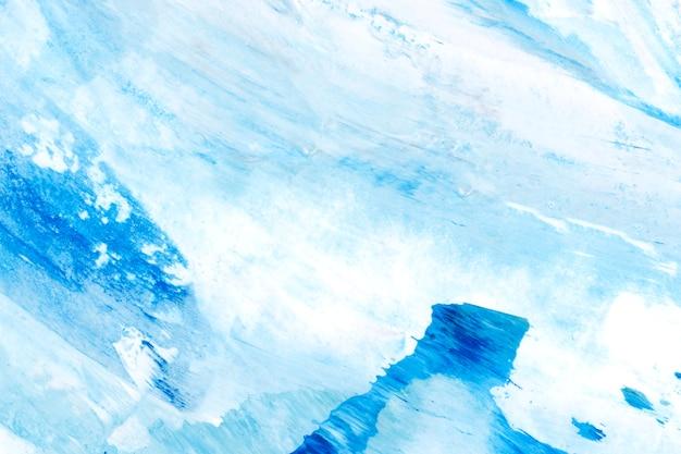 Strukturierter hintergrund des blauen und weißen pinselanschlags