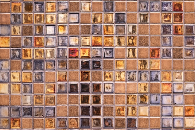 Strukturierter hintergrund des dekorativen bunten mosaiks
