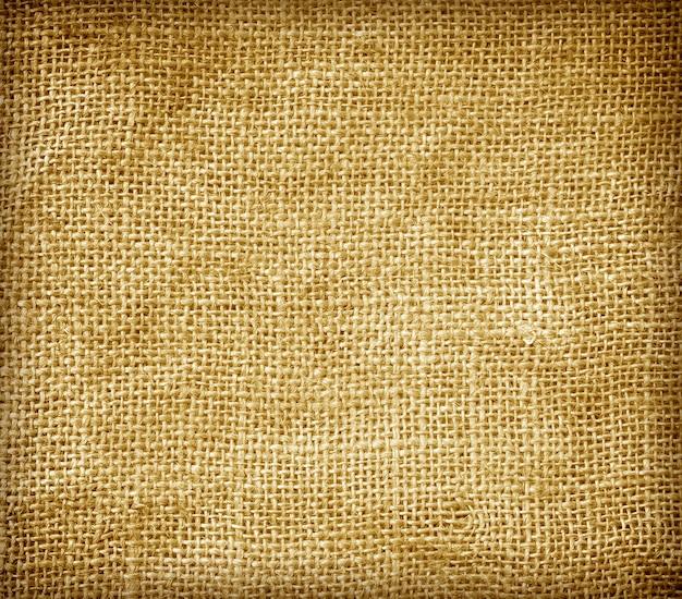 Strukturierter hintergrundhanf sackt braune abstrakte textilindustrie ein