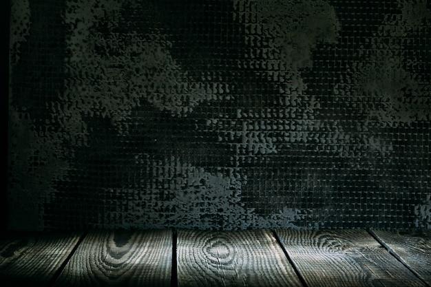Strukturierter holzhintergrund in einem rauminnenraum