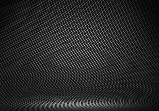 Strukturiertes innenstudio aus schwarzer kohlefaser mit direktionalem licht