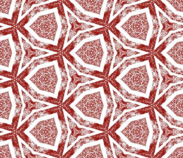 Strukturiertes streifenmuster. kastanienbrauner symmetrischer kaleidoskophintergrund. trendiges strukturiertes streifendesign. textilfertiger exquisiter druck, bademodenstoff, tapete, verpackung.