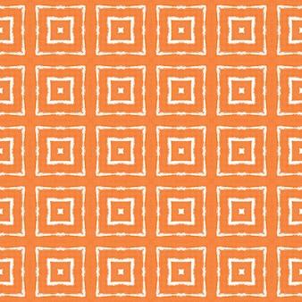 Strukturiertes streifenmuster. orange symmetrischer kaleidoskophintergrund. textilfertiger seltener druck, bademodenstoff, tapete, verpackung. trendiges strukturiertes streifendesign.