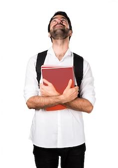 Student mann aufzublicken
