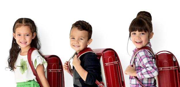 Student mit rucksack für die ausbildung.