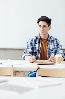 Studenten-brainstorming