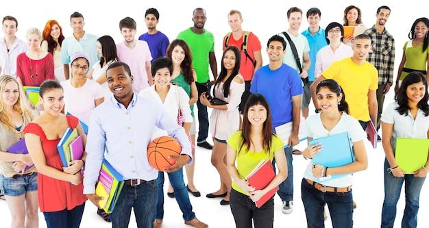 Studenten-college highschool-leute-jugend-kultur-konzept