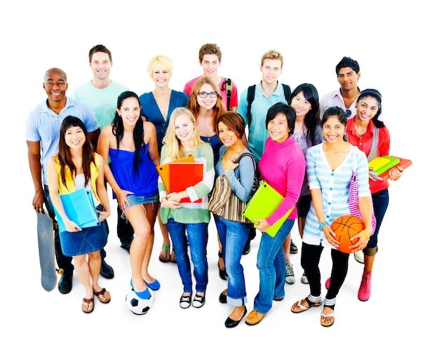 Studenten-hochschuluniversitäts-bildungs-gruppen-konzept