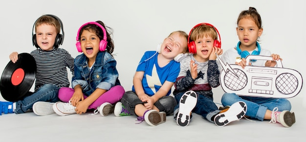 Studio menschen kid model shoot race
