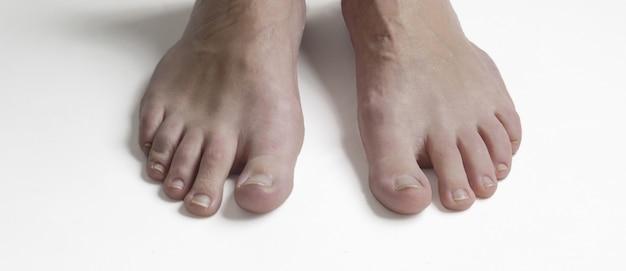 Studiofotografie der füße einer frau