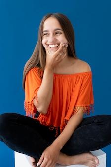 Studioportrait von teenager