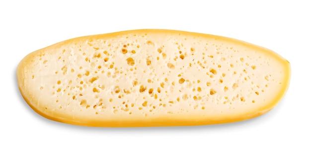 Stück käse isoliert auf weißem hintergrund mit beschneidungspfad