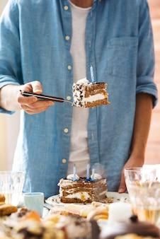 Stück kuchen teilen
