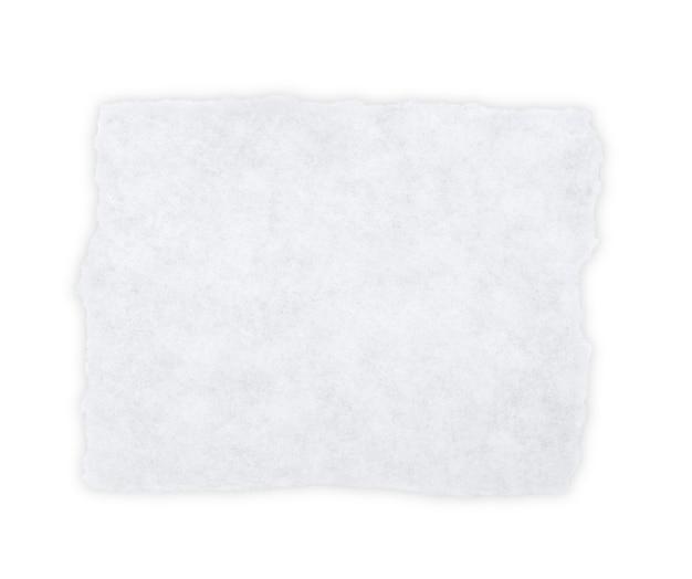 Stück leeres papier isoliert auf weiß