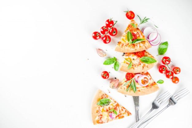 Stücke käsepizza margarita