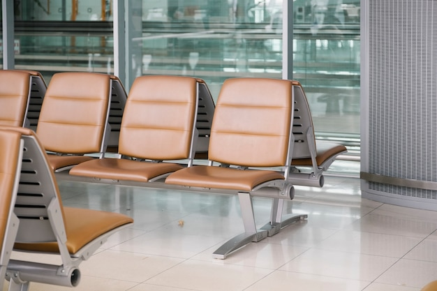 Stuhl im flughafen