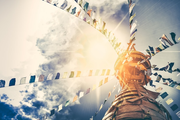 Stupa im swayambhunath-affetempel