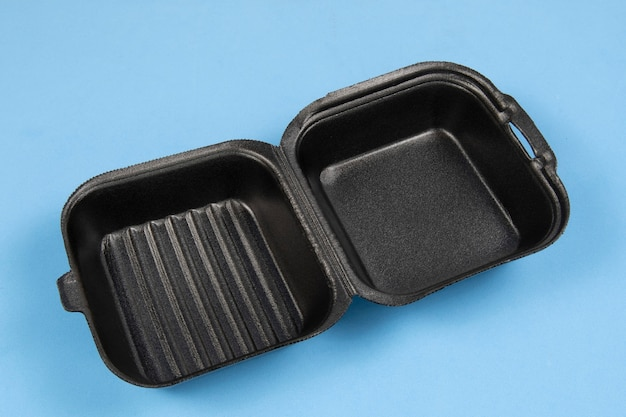 Styroporverpackung schwarz geschlossen für hamburger lieferung