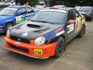 Subaru impreza rallye-rennwagen