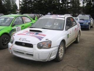 Subaru rally car farbe weiß
