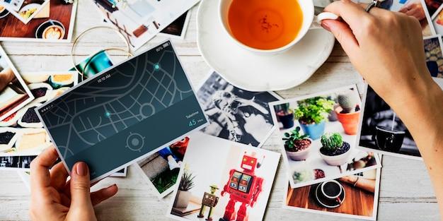 Suche navigationskarte routenkonzept