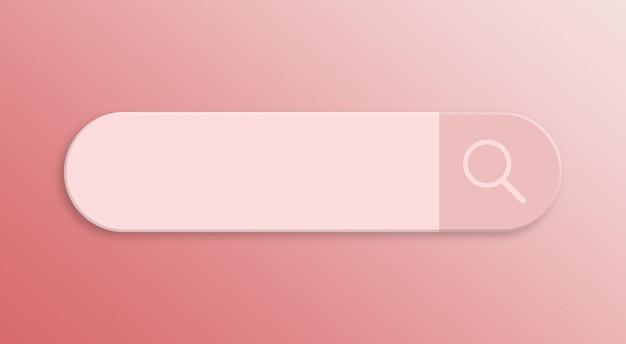 Suchleistendesignelement minimale leere suchleiste für ui 3d render