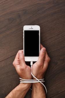 Sucht nach smartphones und sozialen netzwerken