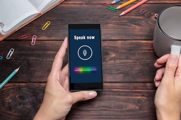 Suchtechnologiekonzept spracherkennung