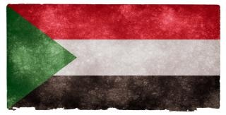 Sudan grunge flag