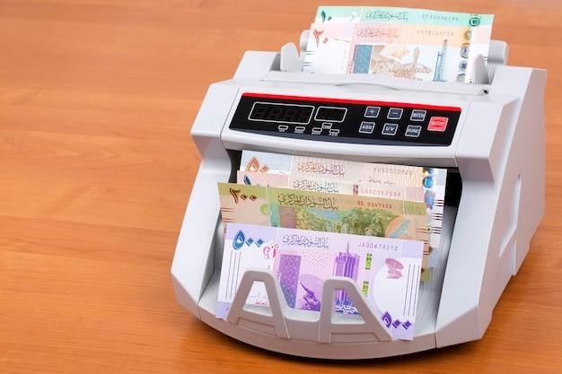Sudanesische pfund in einer zählmaschine