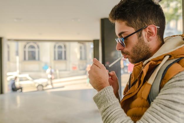 Süchtig nach rauchen