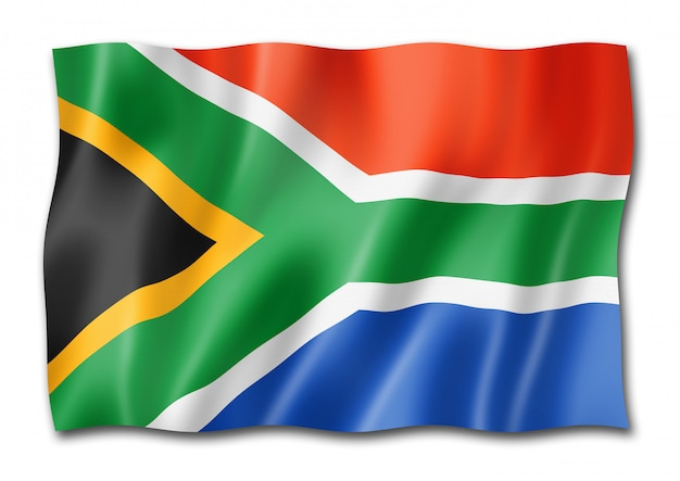 Südafrikanische flagge isoliert
