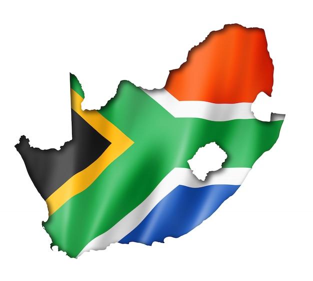 Südafrikanische flaggenkarte