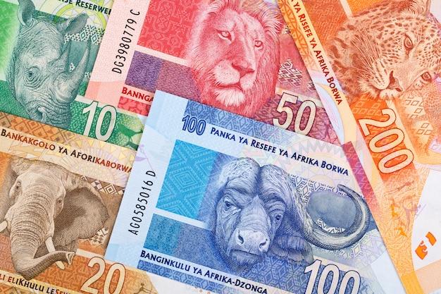 Südafrikanisches geld ein geschäftshintergrund