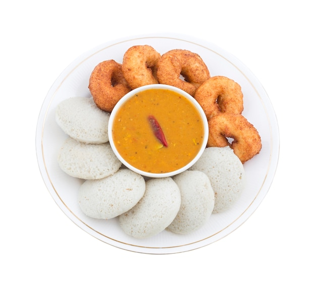 Südindische nahrung idli vada