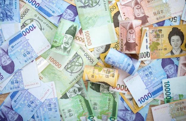 Südkoreanischer won und währungsgeld