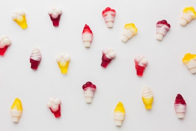 Süße bonbons mit eisform