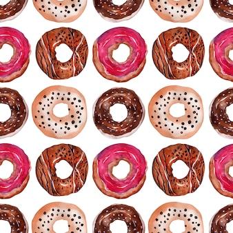 Süße donuts mit streuseln und zuckerguss