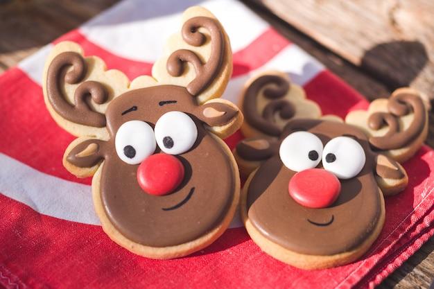 Süße elchförmige kekse