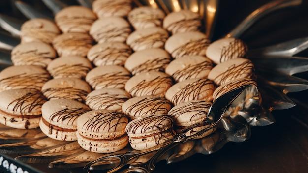 Süße französische macarons