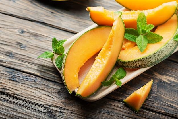 Süße gelbe frische melone