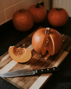 Süße kürbisscheiben thanksgiving food fotografie