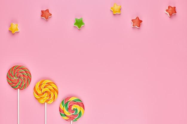 Süße lutscher und süßigkeiten