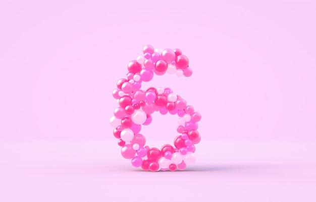 Süße rosafarbene süßigkeitsballone nr. 6.