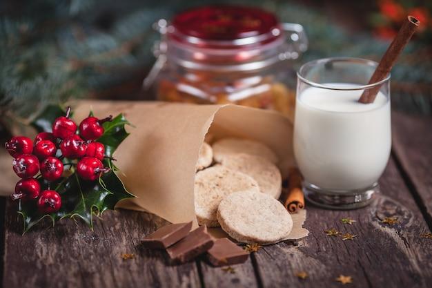 Süße snacks für den weihnachtsabend