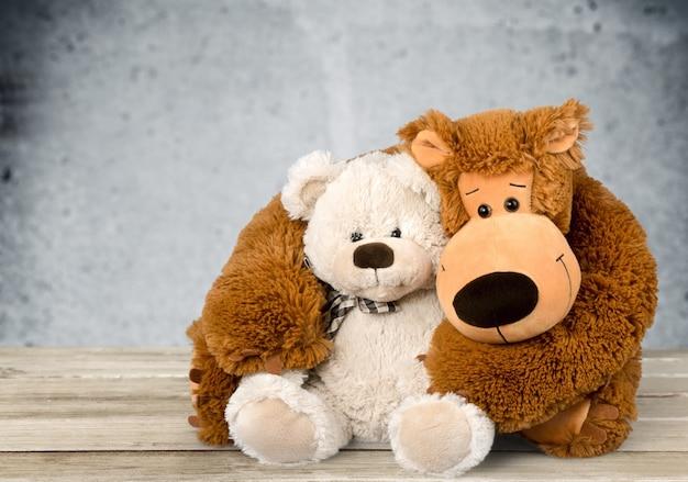 Süße teddybären im hintergrund