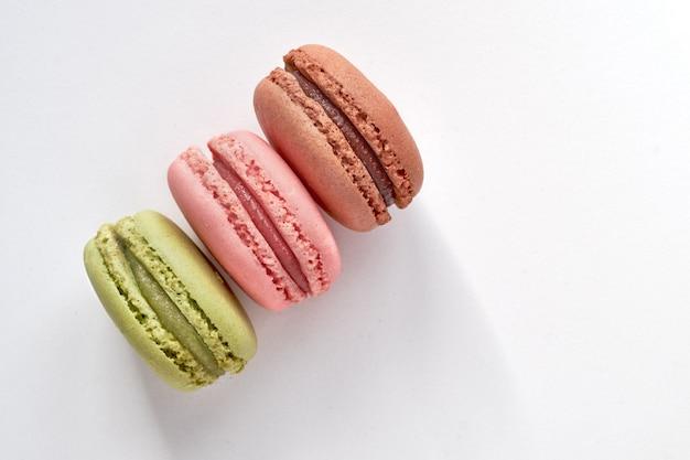 Süße und bunte französische makronen oder macarons