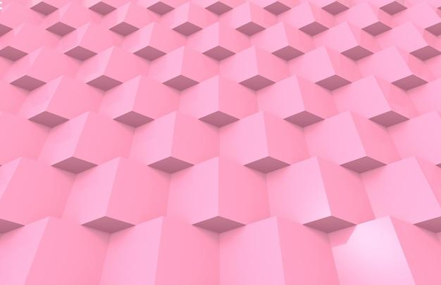 Süße weiche rosa farbtongitterquadrat-kastenstapel-designwand